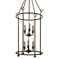 F6646 Troy Hand-Worked Iron Interior Paso Robles 6Lt Pendant with Pompeii Bronze Finish