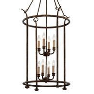 F6648 Troy Hand-Worked Iron Interior Paso Robles 8Lt Pendant with Pompeii Bronze Finish