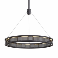 F6863 Troy Hand-Worked Iron Interior Fuze 1Lt Pendant with Modern Bronze Finish