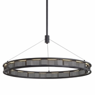 F6865 Troy Hand-Worked Iron Interior Fuze 1Lt Pendant with Modern Bronze Finish
