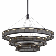 F6866 Troy Hand-Worked Iron Interior Fuze 1Lt Pendant with Modern Bronze Finish