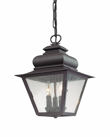 F7007NB Troy Lighting Livingston Exterior 3light Hanging Lantern