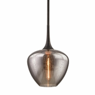 F7055 Troy Hand-Worked Iron Interior West End 1Lt Pendant with Vintage Bronze Finish