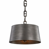 F7204 Troy Hand-Worked Iron Interior Admirals Row 4Lt Pendant with Antique Pewter Finish