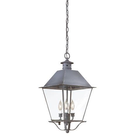 F9139CI Troy Solid Brass Exterior Montgomery 4Lt Hanging Lantern Extra Large with Charred Iron Finish