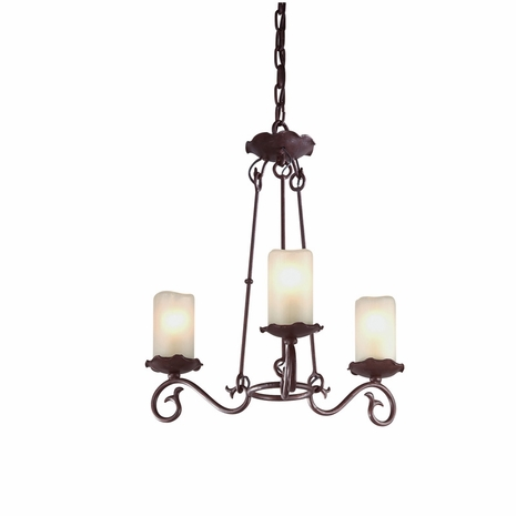 F9193OR Troy Provence Small Old Rust 3 Light Chandelier