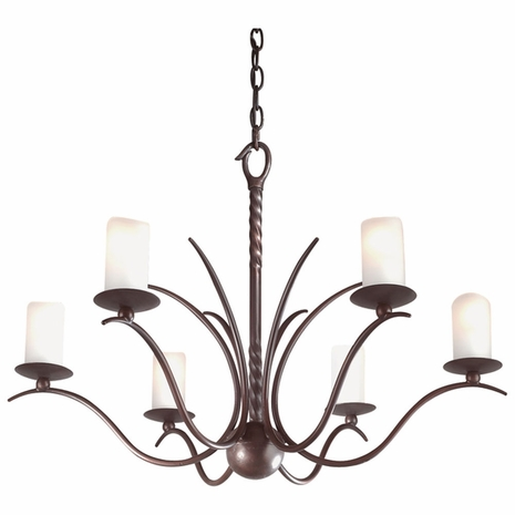 F9206OR Troy Avalon Small Old Rust 6 Light Chandelier