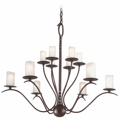 F9212OR Troy Avalon Medium Old Rust 12 Light Chandelier