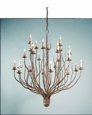 F9374SY Troy Lighting Sycamore Interior 24light Chandelier