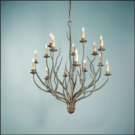 F9375SY Troy Lighting Sycamore Interior 15light Chandelier
