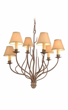 F9376 Troy Lighting Sycamore Six-Light Chandelier