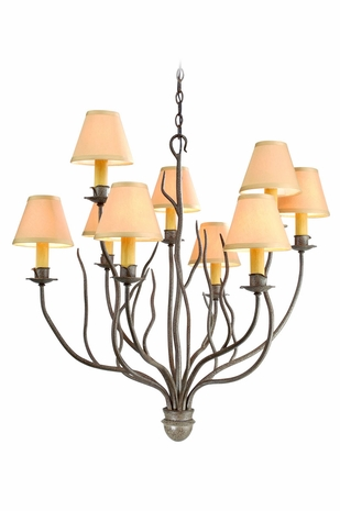 F9379SY Troy Lighting Sycamore Interior 9light Chandelier