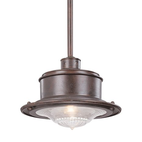F9396OR Troy Hand-Forged Iron Exterior South Street 1Lt Hanging Downlight Medium with Old Rust Finish
