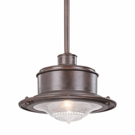 F9397OR Troy Hand-Forged Iron Exterior South Street 1Lt Hanging Downlight Large with Old Rust Finish