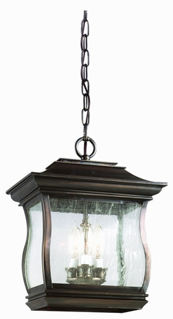 F9516 Troy Lighting Brentwood Park Three-Light Outdoor Pendant