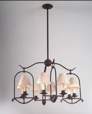 F9568 Troy Lighting Saddleback Chandelier