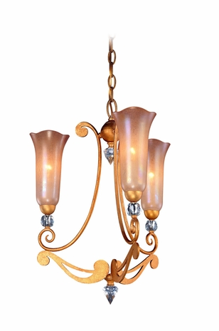 F9943GLF Troy Lighting Milano Interior 3light Chandelier