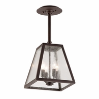 FCD3437 Troy Hand-Worked Iron Exterior Amherst 4Lt Hanger Large with River Valley Rust Finish