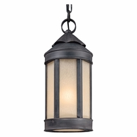 FL1467AI Troy Hand-Worked Iron Exterior Andersons Forge 1Lt Hanging Lantern Medium with Antique Iron Finish