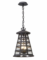 FL5167 Troy Solid Aluminum Exterior Benjamin 1Lt Hanger Lantern Led Large with Vintage Iron Finish