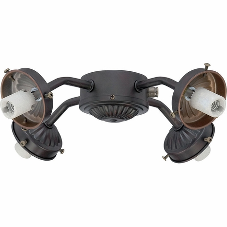 FLC418-13 Savoy House Mission Fitter Fan Light Kit in English Bronze