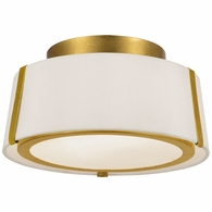 FUL-903-GA Crystorama Fulton 2 Light Gold Ceiling Mount