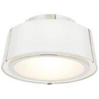 FUL-903-PN Crystorama Fulton 2 Light Polished Nickel Ceiling Mount