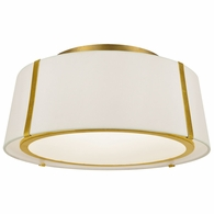 FUL-905-GA Crystorama Fulton 3 Light Gold Ceiling Mount