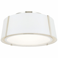 FUL-905-PN Crystorama Fulton 3 Light Polished Nickel Ceiling Mount