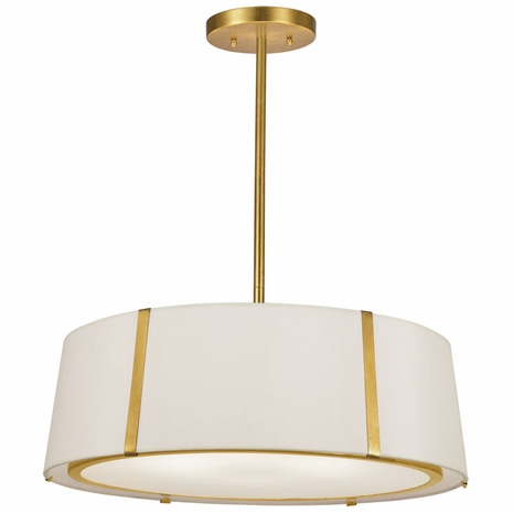 FUL-907-GA Crystorama Fulton 6 Light Gold Chandelier