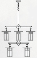 GCH-9-4-4 Arroyo Craftsman Nine-inch Glasgow Two-Tier Eight-Light Chandelier