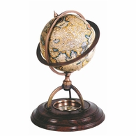 GL019 Authentic Models Terrestrial Globe with Compass