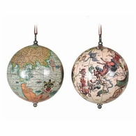 GL032 Authentic Models The Earth & The Heavens 1551 Globe