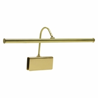 "GPLED19-61 House of Troy Grand Piano LED Clamp Lamp 19"" Polished Brass"