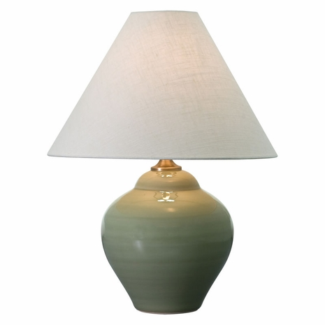 "GS130-CG House of Troy Scatchard 21.5"" Stoneware Table Lamp in Celadon"
