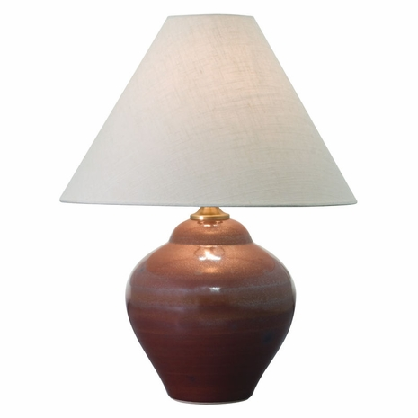 """GS130-IR House of Troy Scatchard 21.5"""" Stoneware Table Lamp in Iron Red"""