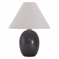 "GS140-BM House of Troy Scatchard 22.5"" Stoneware Table Lamp in Black Matte"