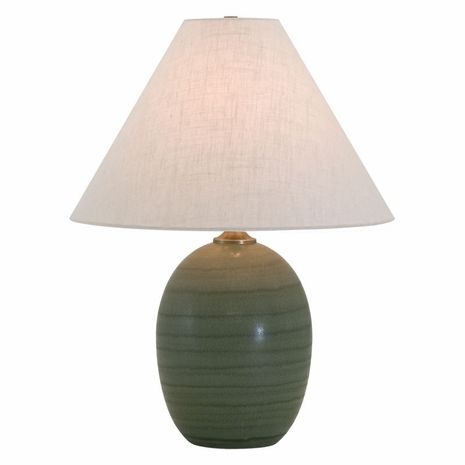"""GS140-GM House of Troy Scatchard 22.5"""" Stoneware Table Lamp in Green Matte"""
