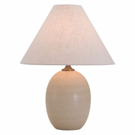 "GS140-OT House of Troy Scatchard 22.5"" Stoneware Table Lamp in Oatmeal"