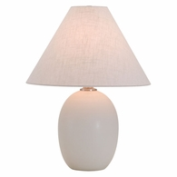 "GS140-WM House of Troy Scatchard 22.5"" Stoneware Table Lamp in White Matte"
