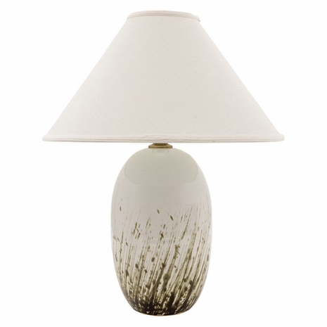 """GS150-DWG House of Troy Scatchard 28.5"""" Stoneware Table Lamp in Decorated White Gloss"""