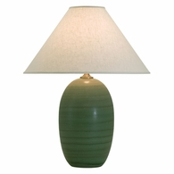 "GS150-GM House of Troy Scatchard 28.5"" Stoneware Table Lamp in Green Matte"