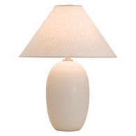 "GS150-WM House of Troy Scatchard 28.5"" Stoneware Table Lamp in White Matte"