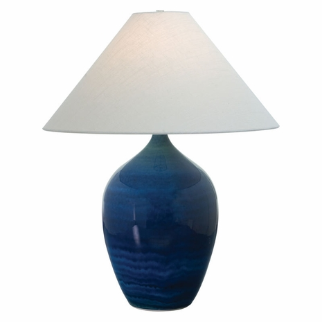 """GS190-BG House of Troy Scatchard 29"""" Stoneware Table Lamp in Blue Gloss"""