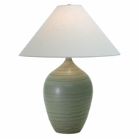 "GS190-GM House of Troy Scatchard 29"" Stoneware Table Lamp in Green Matte"