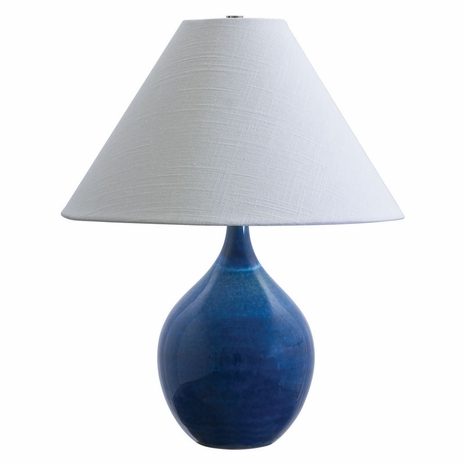 """GS200-BG House of Troy Scatchard 19"""" Stoneware Accent Lamp in Blue Gloss"""