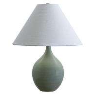 "GS200-CG House of Troy Scatchard 19"" Stoneware Accent Lamp in Celadon"
