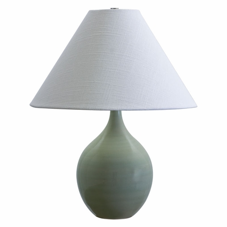 """GS200-CG House of Troy Scatchard 19"""" Stoneware Accent Lamp in Celadon"""