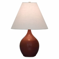 "GS200-CR House of Troy Scatchard 19"" Stoneware Accent Lamp in Copper Red"