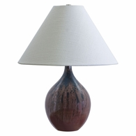 "GS200-DR House of Troy Scatchard 19"" Stoneware Accent Lamp in Decorated Red"